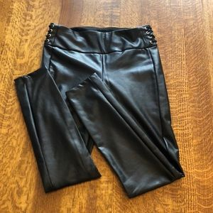 Other - Fleece Lined Faux Leather Legging